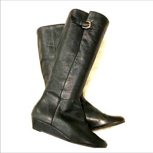 Steve Madden INTYCE Black Leather Boots